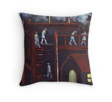 The night shift Throw Pillow