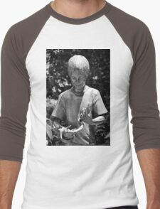 A boy and his snake Men's Baseball ¾ T-Shirt