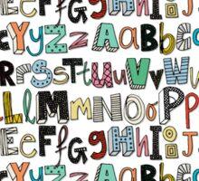 ABC mocha multi Sticker