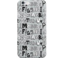 ABC silver iPhone Case/Skin