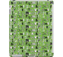 ABC green iPad Case/Skin