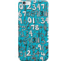 math doodle blue iPhone Case/Skin