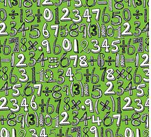 math doodle green by Sharon Turner