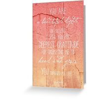 An Inspiring Light Greeting Card