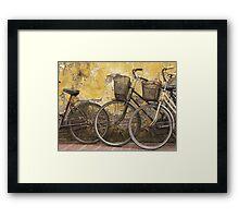 Bicycles Vietnam Framed Print