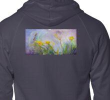 Bumble bee on flowers Zipped Hoodie