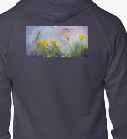 Bumble bee on flowers Zipped Hoodie