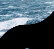sea yin yang Sticker