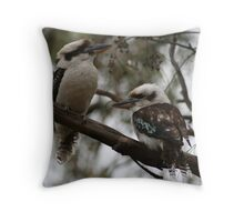 Kookaburras Hunting Throw Pillow