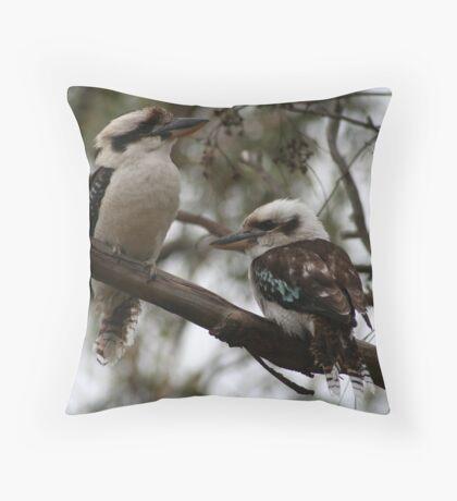 Kookaburras Hunting Throw Pillow