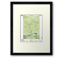 Maine USGS Historical Map Gilead 105159 1995 24000 Framed Print