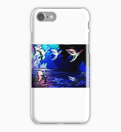 abstract migration over water iPhone Case/Skin
