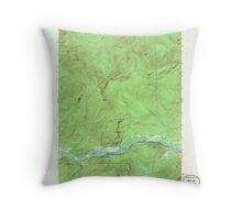 Maine USGS Historical Map Gilead 806718 1970 24000 Throw Pillow