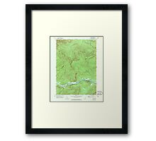 Maine USGS Historical Map Gilead 806718 1970 24000 Framed Print