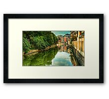 City canal (Nantong, China 12) Framed Print