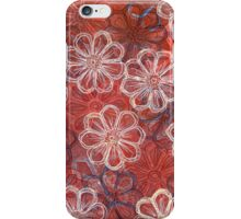 Blossoms 1 - Monoprint  Print and Ink  iPhone Case/Skin