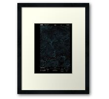 Maine USGS Historical Map Gilead 20120118 TM Inversion Framed Print