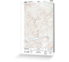 Maine USGS Historical Map Gilead 20120118 TM Greeting Card