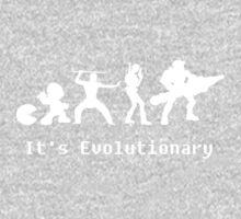 It's Evolutionary (with text) One Piece - Short Sleeve