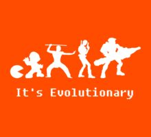 It's Evolutionary (with text) Kids Tee