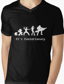 It's Evolutionary (with text) Mens V-Neck T-Shirt