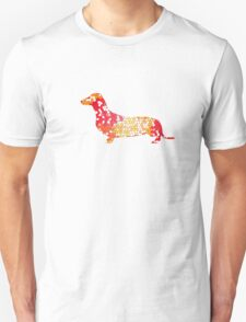 Dachshund Lovers - Abstract Red T-Shirt