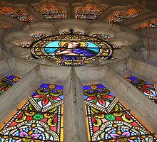 Rose Window from Below by Pamela Jayne Smith