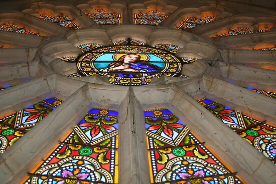 Rose Window from Below by Pamela Jayne Smith