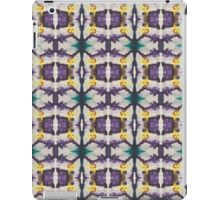 abstract teal and purple iPad Case/Skin