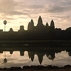 Sunrise over Angkor (2) by Trevor Needham