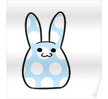 Blue Spotted Bunny Poster