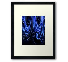 Black and Blue Art Design Ribbon Abstract Framed Print