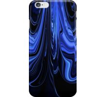 Black and Blue Art Design Ribbon Abstract iPhone Case/Skin