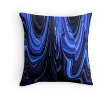 Black and Blue Art Design Ribbon Abstract Throw Pillow