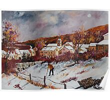 First snow in Chassepierre  Poster