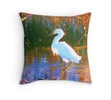 Great Snowy Egret  Throw Pillow