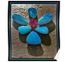 Black Opals/Boulder Opals and Tourmaline Poster