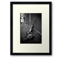 Lonely Guitar Framed Print