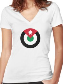 Roundel of the Royal Jordanian Air Force Women's Fitted V-Neck T-Shirt