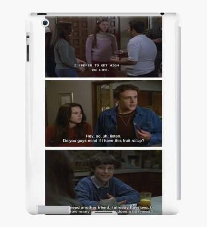Freaks and Geeks Quote Shirt iPad Case/Skin