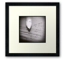 Pencil Dilemma Framed Print