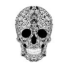 Black Flower Skull by TinaGraphics