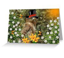 ~ MAYOR OLEA OWL ~ Greeting Card