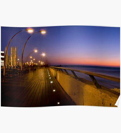 Tel Aviv Port at night Poster