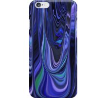 Lovely Shades of Blue Abstract Art Design iPhone Case/Skin