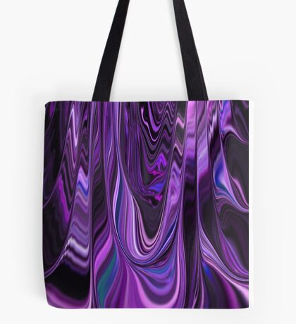 Ribbon Design Style in Purple and Violet Art  Tote Bag