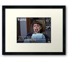 "Sam Weir ""Freaks and Geeks"" Teeth Shirt Framed Print"