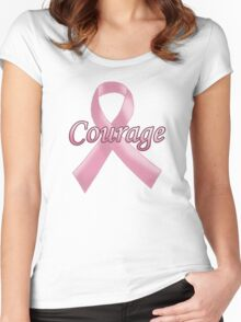 Breast Cancer Awareness - Courage Women's Fitted Scoop T-Shirt