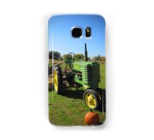 John Deere Tractor Harvest Time Photograph Samsung Galaxy Case/Skin