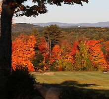 Autumn at Berlin, MA, USA- Wachusett Mtns. in Distance by Dennis Knecht